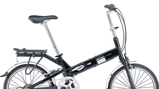 1. Giant Halfway City 2  <p>£549, wiggle.co.uk</p>  <p>This 20in model is between a standard city bike and a fold-up, with a light(ish) aluminium frame, Shimano revo shift seven-speed gears and a monofork for folding.</p>