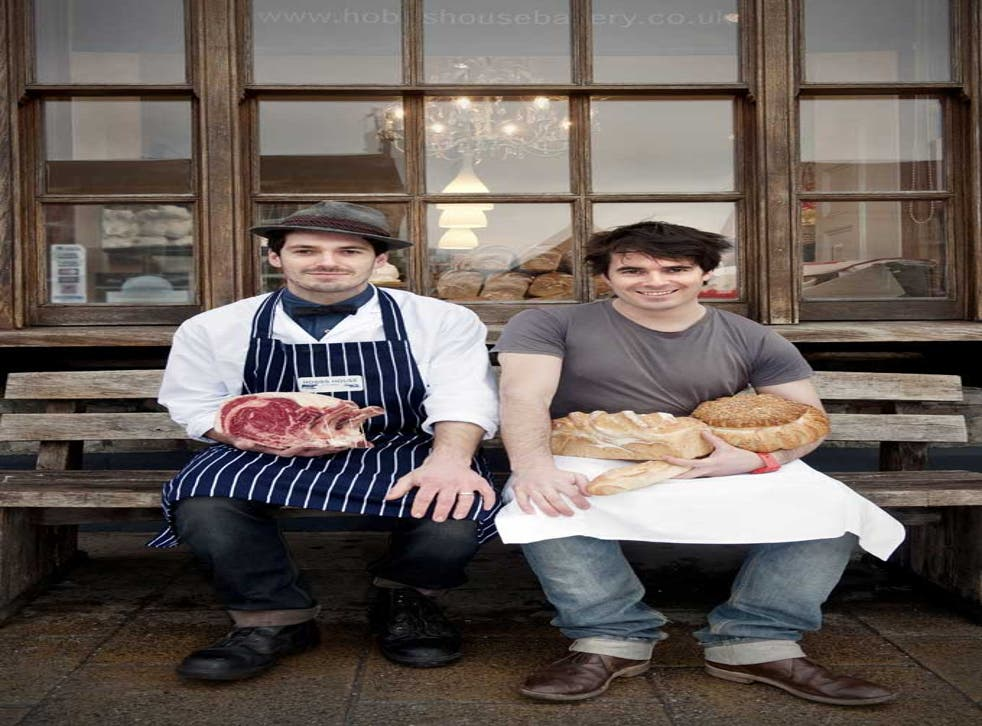 Tom (right) and Henry are the respective owners of the Hobbs House Bakery and the Hobbs House Butchery, both in Chipping Sodbury, Gloucestershire