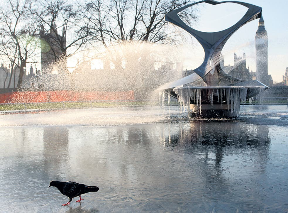 London freezes yesterday