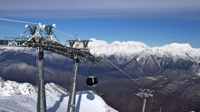 Sochi, the venue for the 2014 Winter Olympics, has opened its slopes