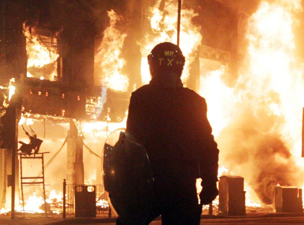 Mild chemical agents are used for cases similar to the Tottenham riots