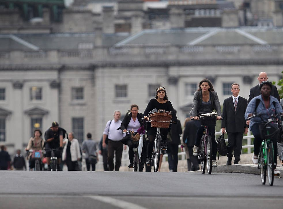 Boris Johnson said: 'We are seeing a step-change in both the way that people choose to travel'