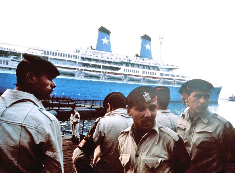 The Italian cruise ship 'Achille Lauro'
