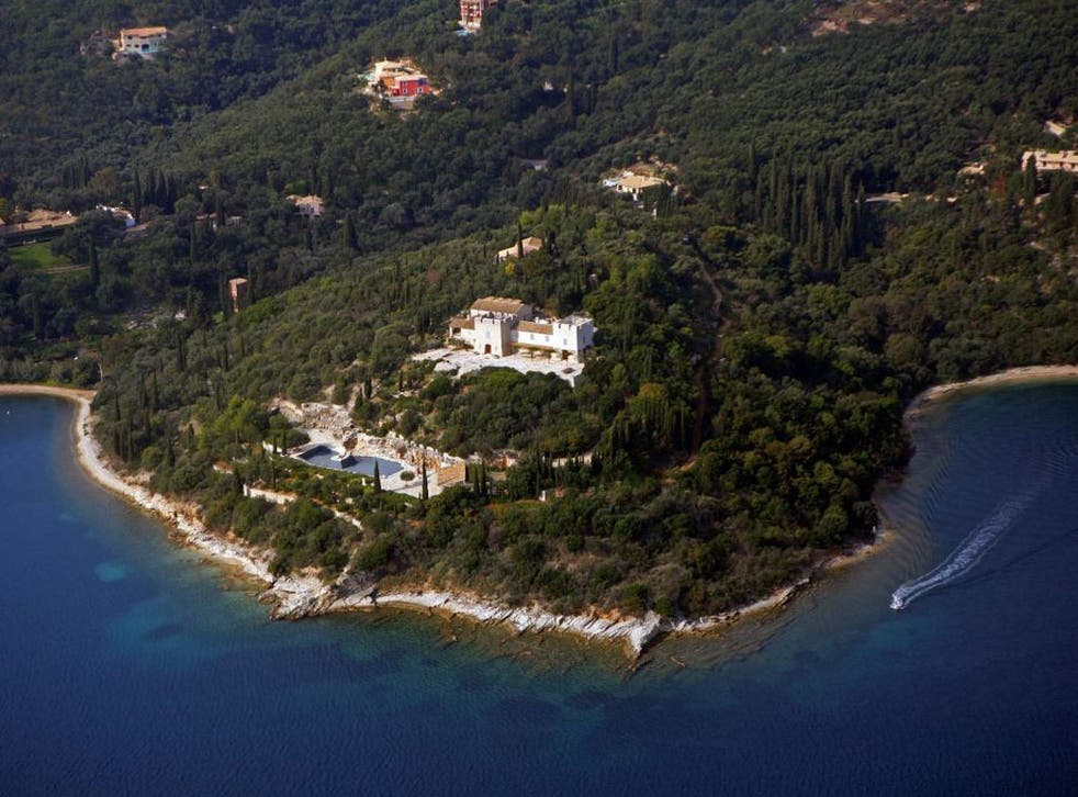 The Rothschild estate in Agios Stefanos, Corfu, where Peter Mandleson and George Osborne were guests of Nat Rothschild in 2008