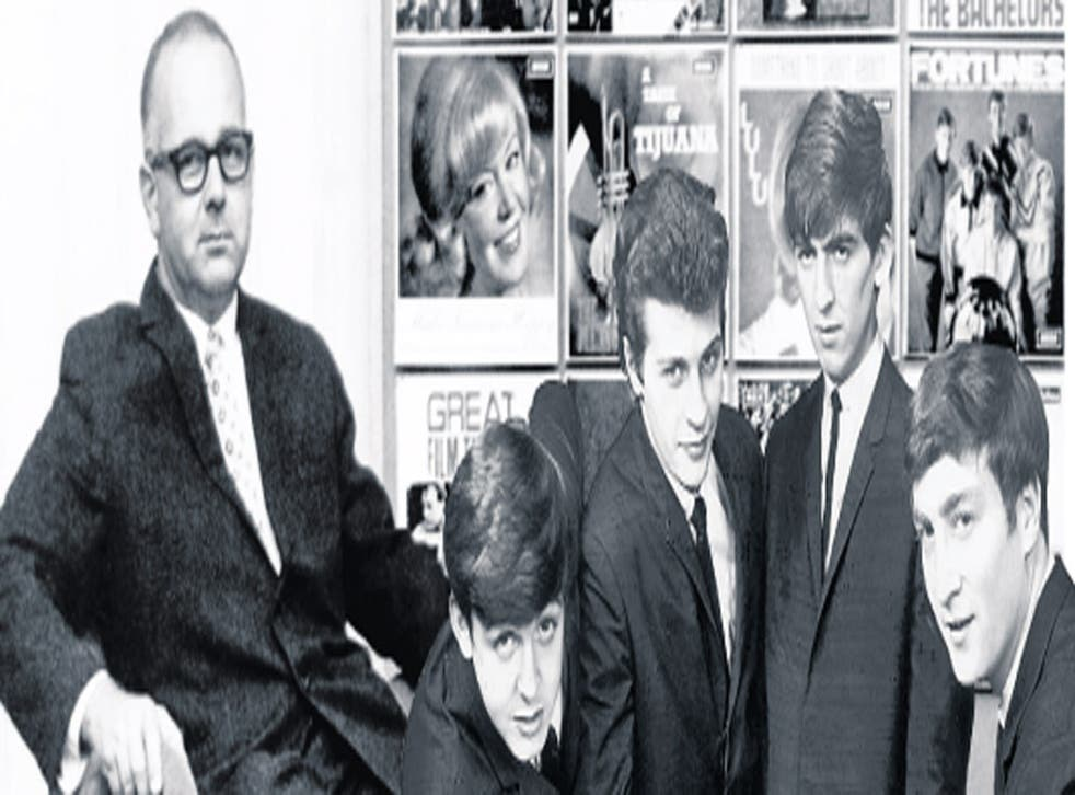 Decca's Dick Rowe, left, turned down the Beatles
