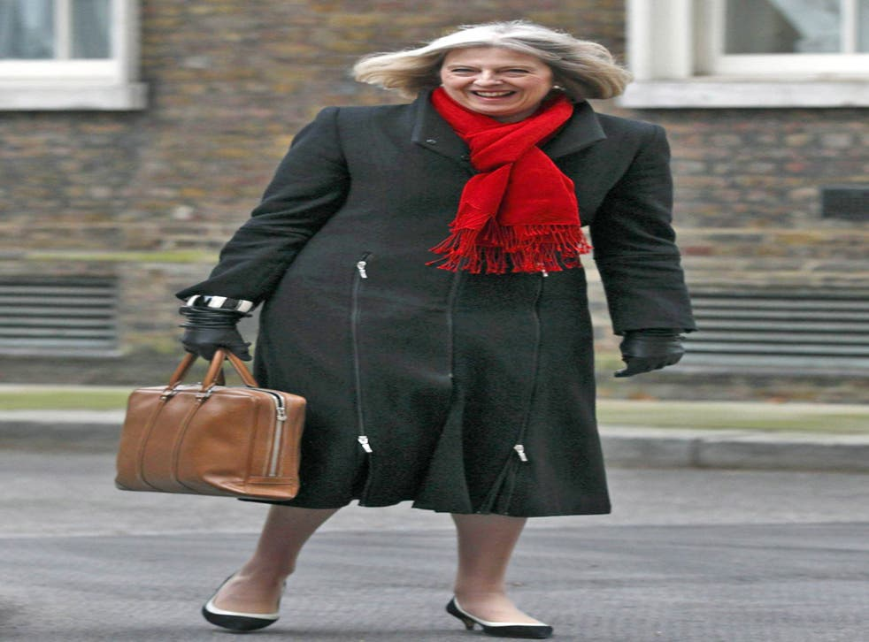 Embattled: Theresa May has been wringing her hands over Abu Qatada