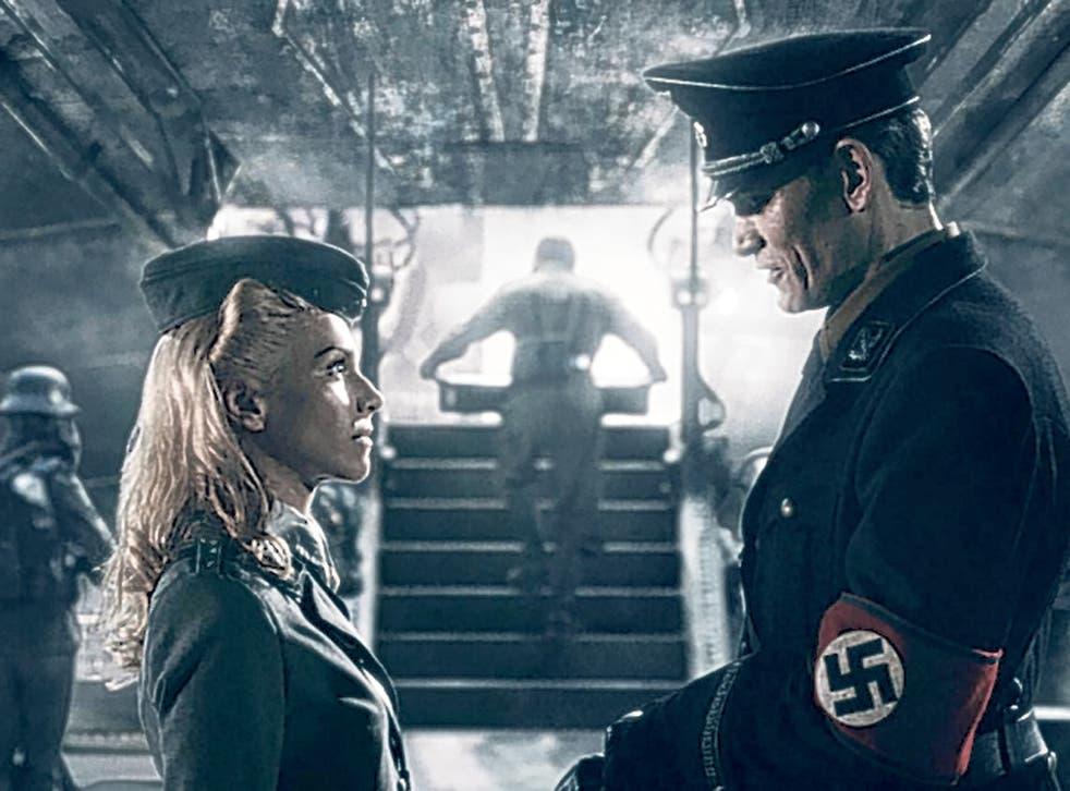 Nazi piece of work: Julia Dietze and Götz Otto star in 'Iron Sky'