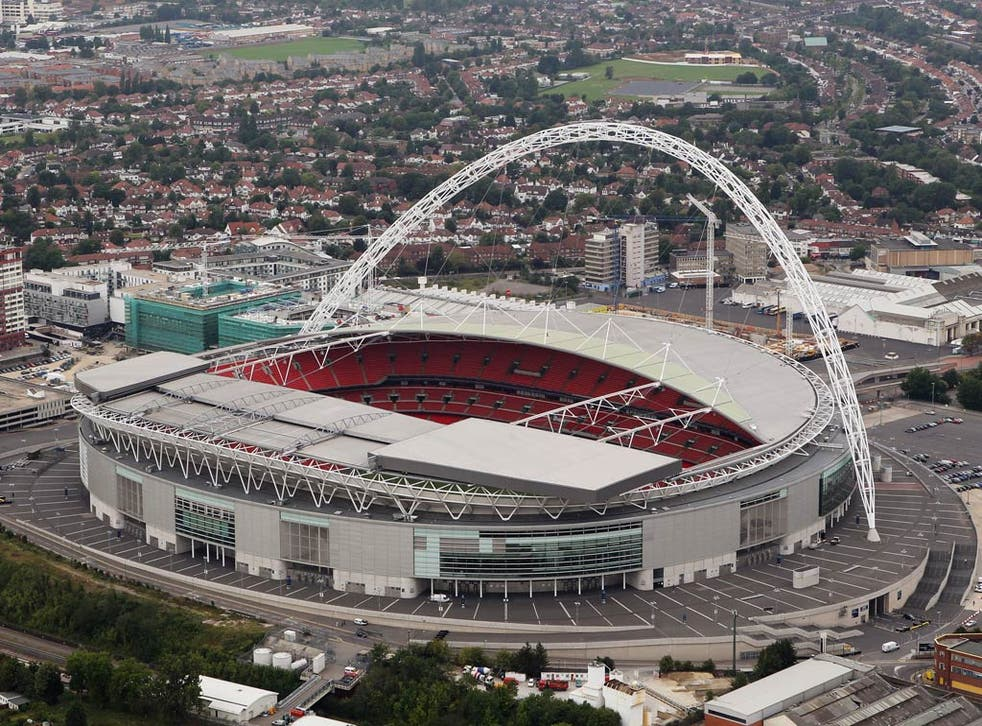 A view of Wembley Stadium
