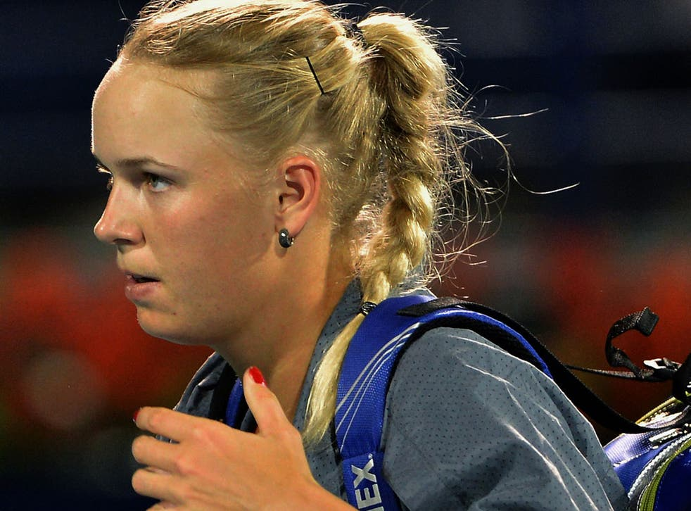 Caroline Wozniacki who has been beaten by German Julia Gorges in each of their last three matches
