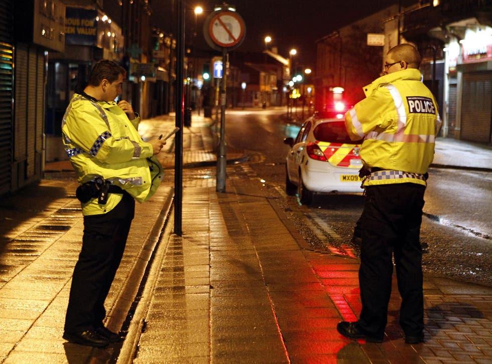 Police in Heywood, Rochdale