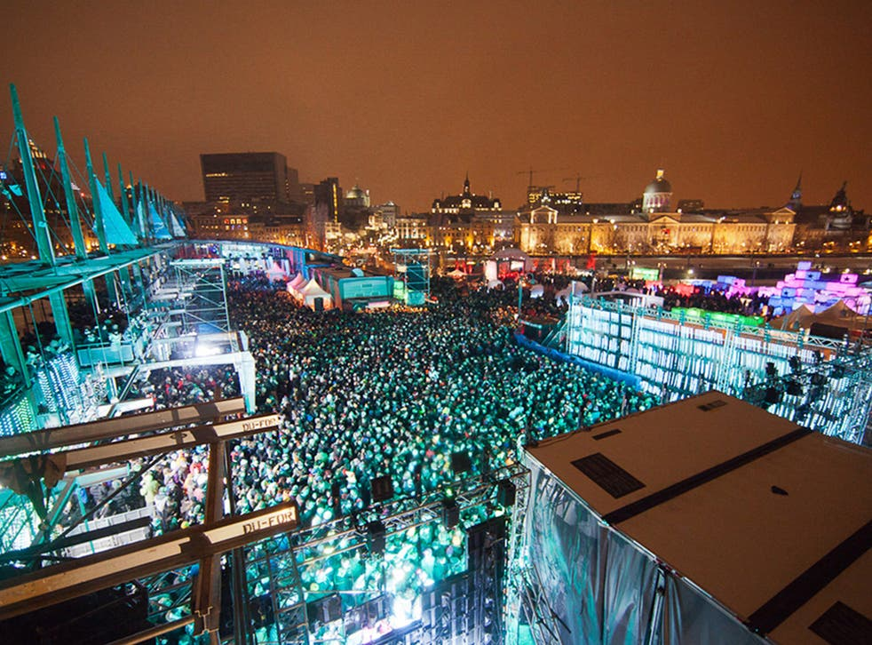 A brrrrrilliant line up: music-lovers try to keep warm at this year's Igloofest in Montreal