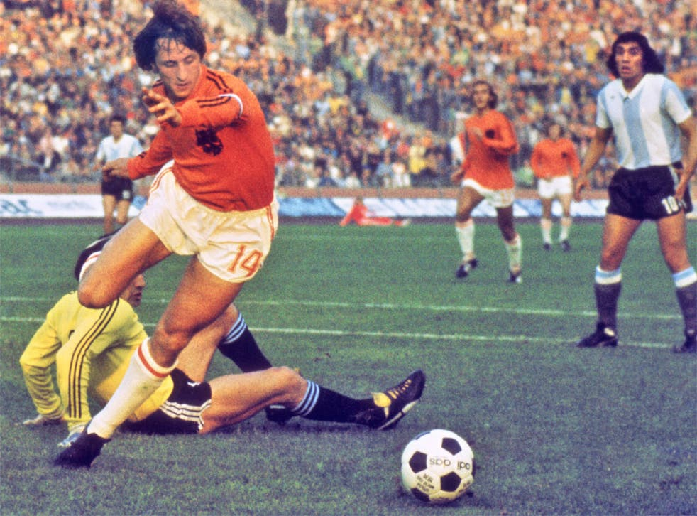 Johan Cruyff in his prime for the Netherlands