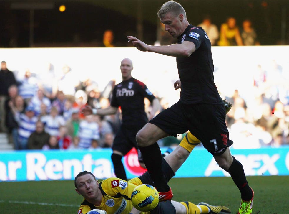 Pavel Pogrebnyak scoring for Fulham at QPR