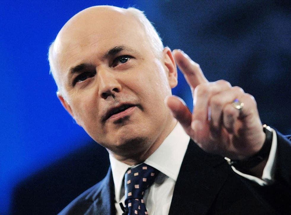 The Work and Pensions Secretary Iain Duncan Smith