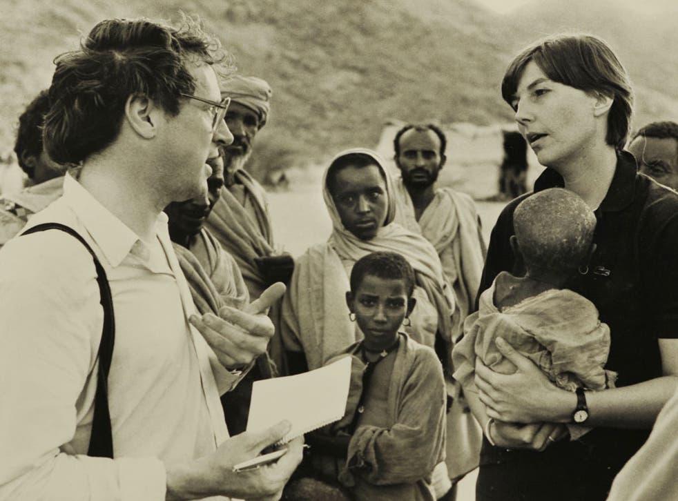 Robert Fisk on the Sudan-Ethiopia border in 1984