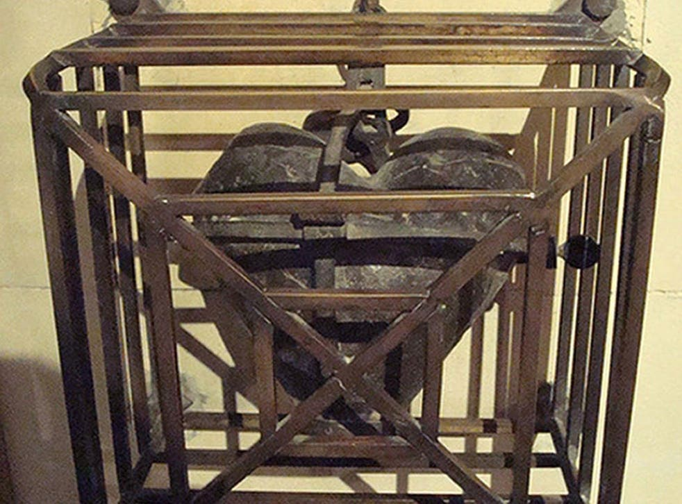 The preserved heart of St Laurence O'Toole was taken from Saint Lauds Chapel