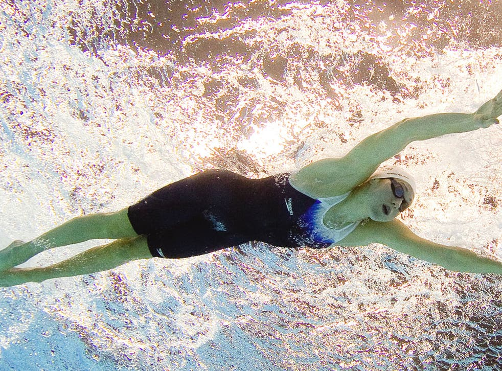 Jemma Lowe, one of Britain's three world-class swimmers