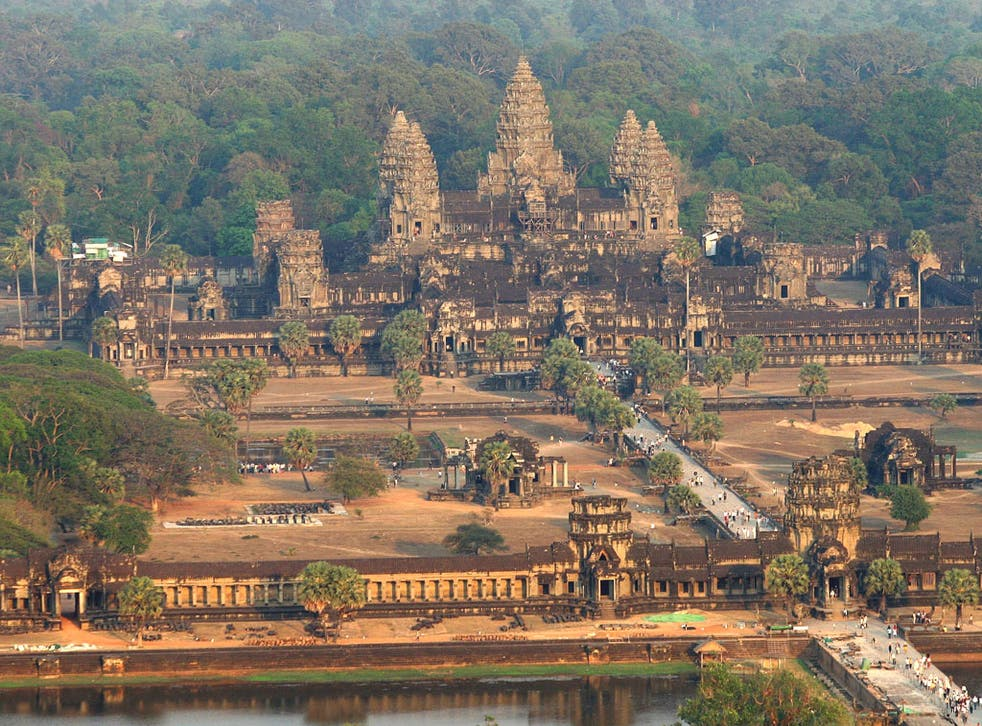 The original Angkor Wat temple in Cambodia was completed in the 12th century