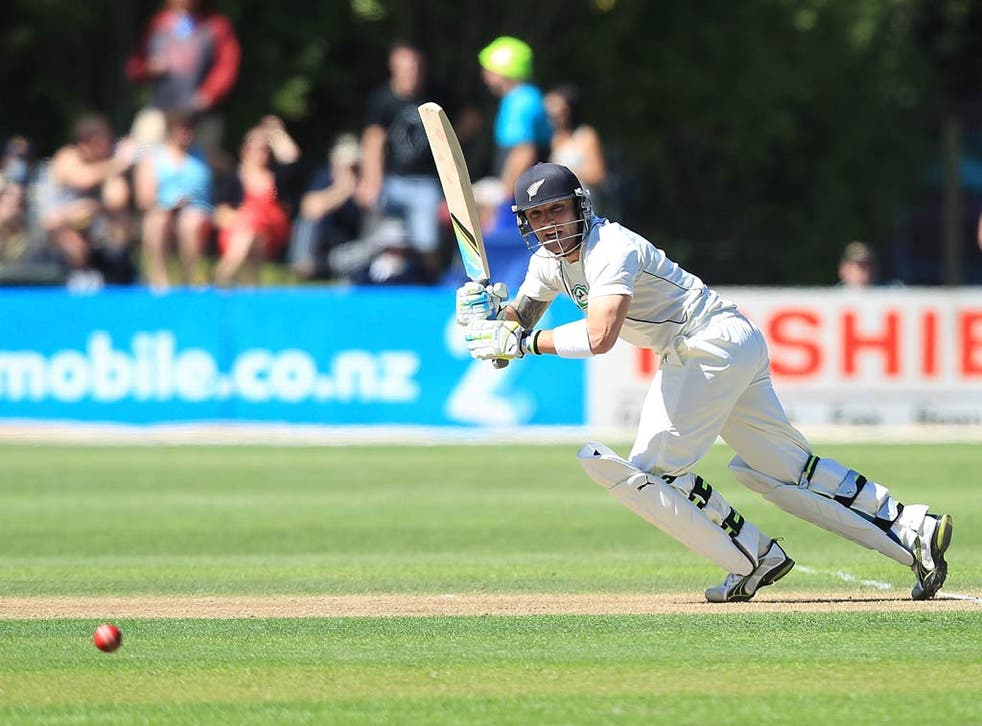 Brendon McCullum looked well set but fell short of a half-century