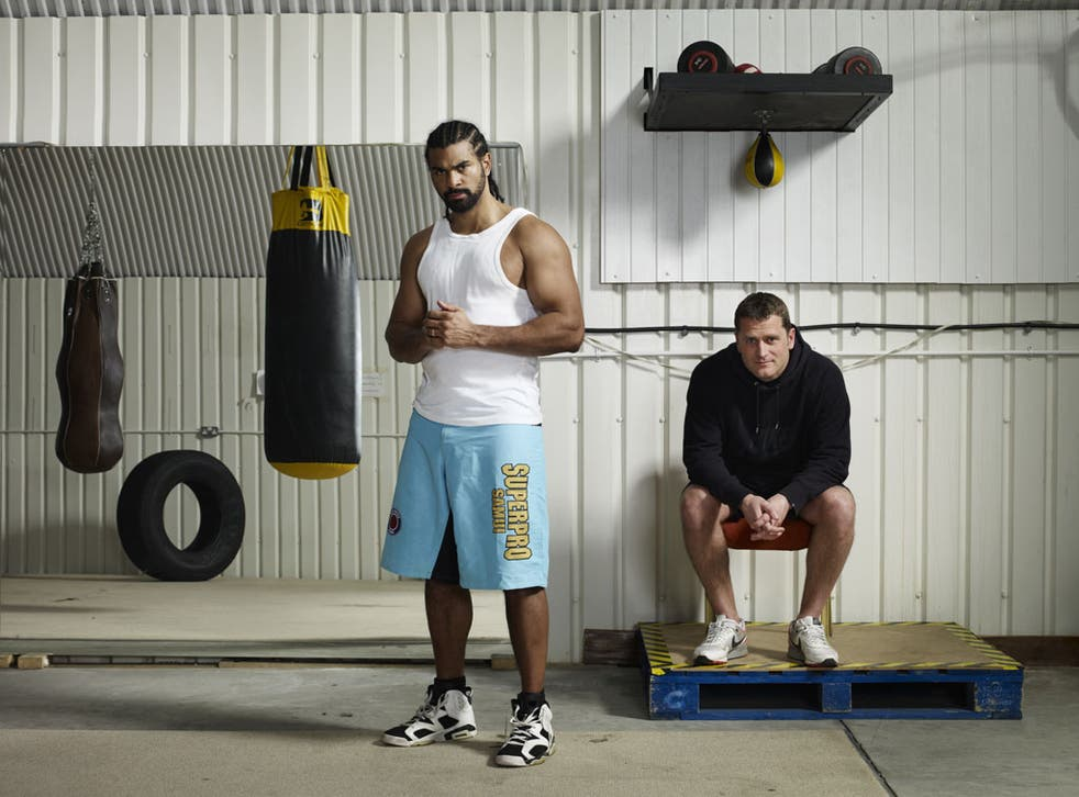 Anderson (right) says of Haye: 'It was a shock to see him brawl with Dereck Chisora. You forget how comfortable boxers are around violence.'