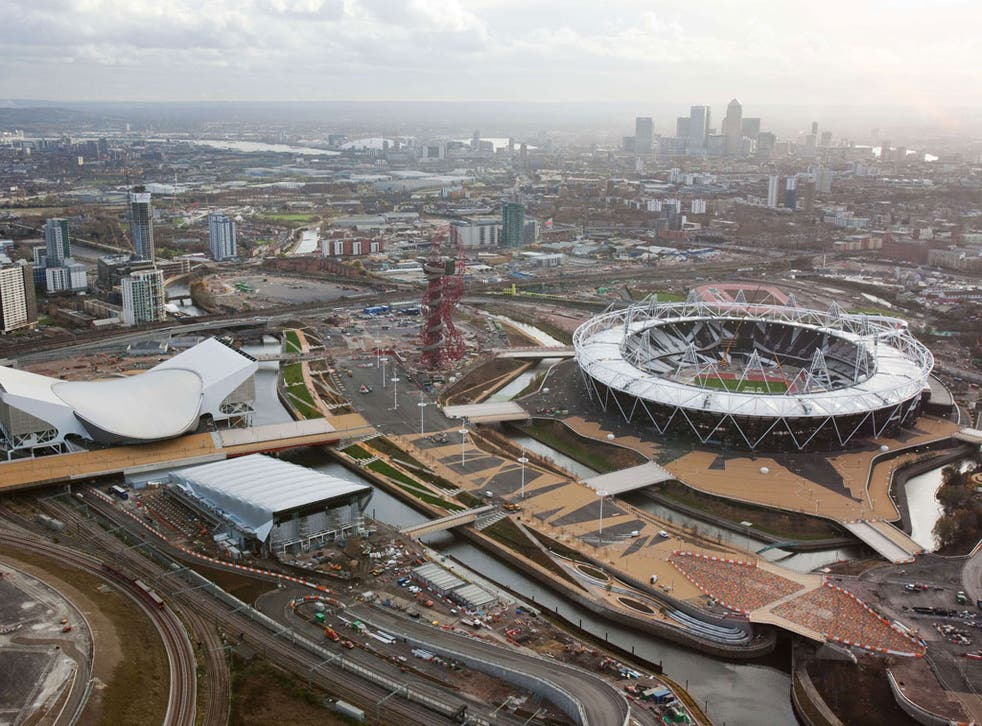 The Olympics Park in East London. The cost of staging the Olympics has risen to £11bn