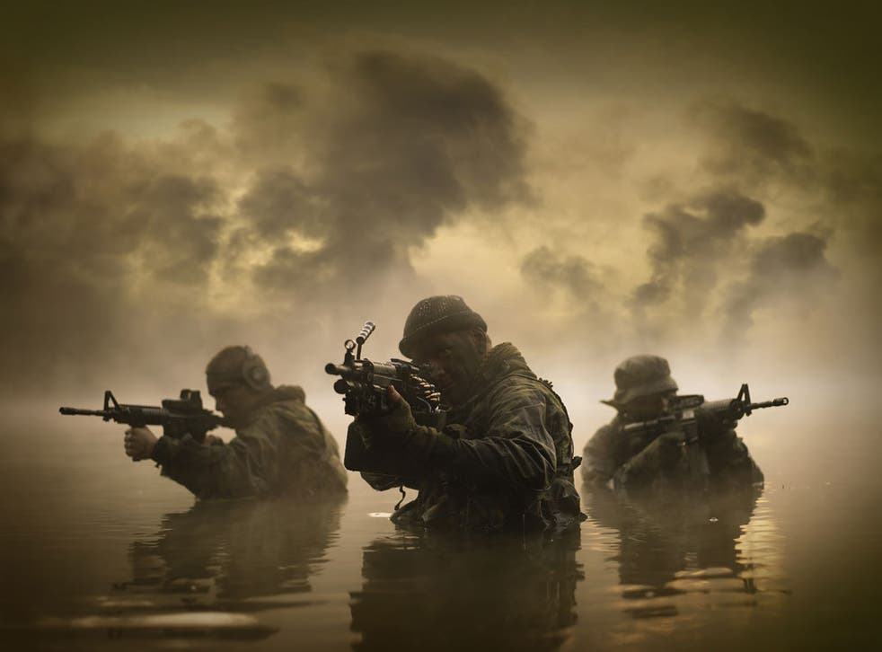 Troops from the Special Boat Service