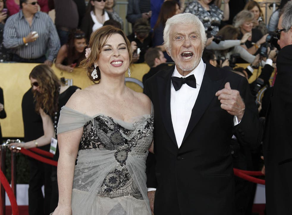 Starry night: Dick Van Dyke with Arlene Silver in Los Angeles - they were married a month later, in Malibu