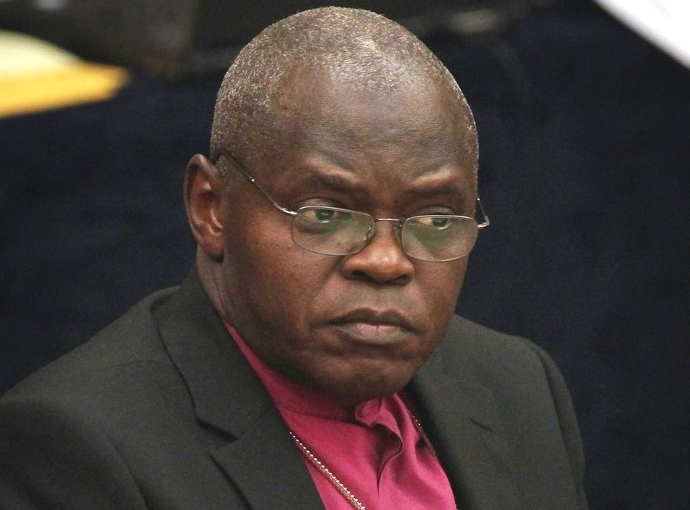 Archbishop of York, DR John Sentamu warns gay marriages may need the approval of the Church of England