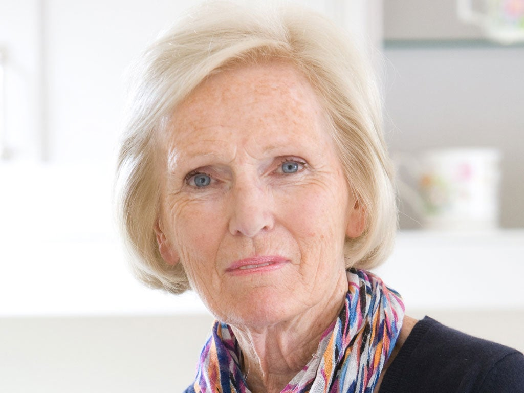 Mary berry goes all contrary with a simple recipe take for Mary berry uk