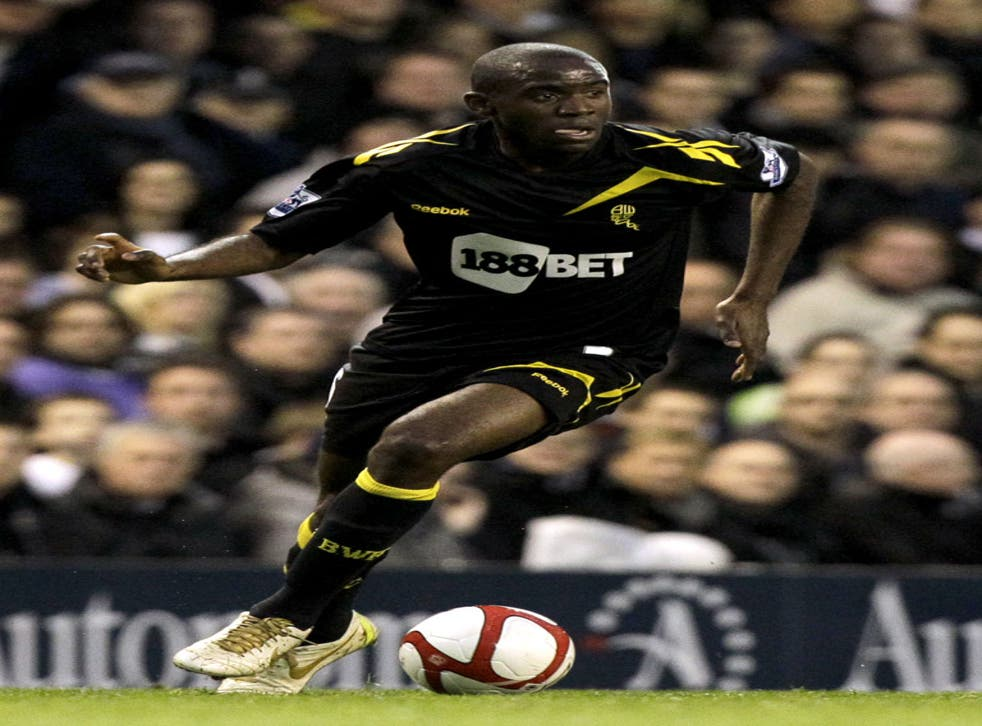 Patrice Muamba in action just before his collapse yesterday