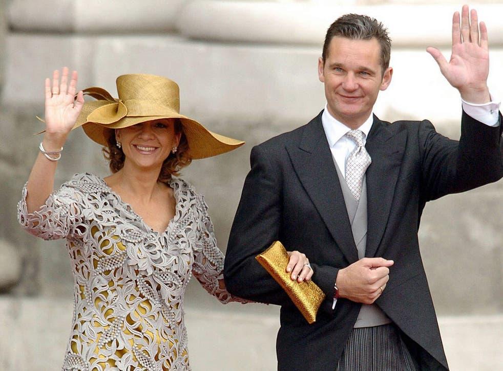 Iñaki Urdangarin. pictured with his wife Princess Cristina de Borbon, denies any wrongdoing