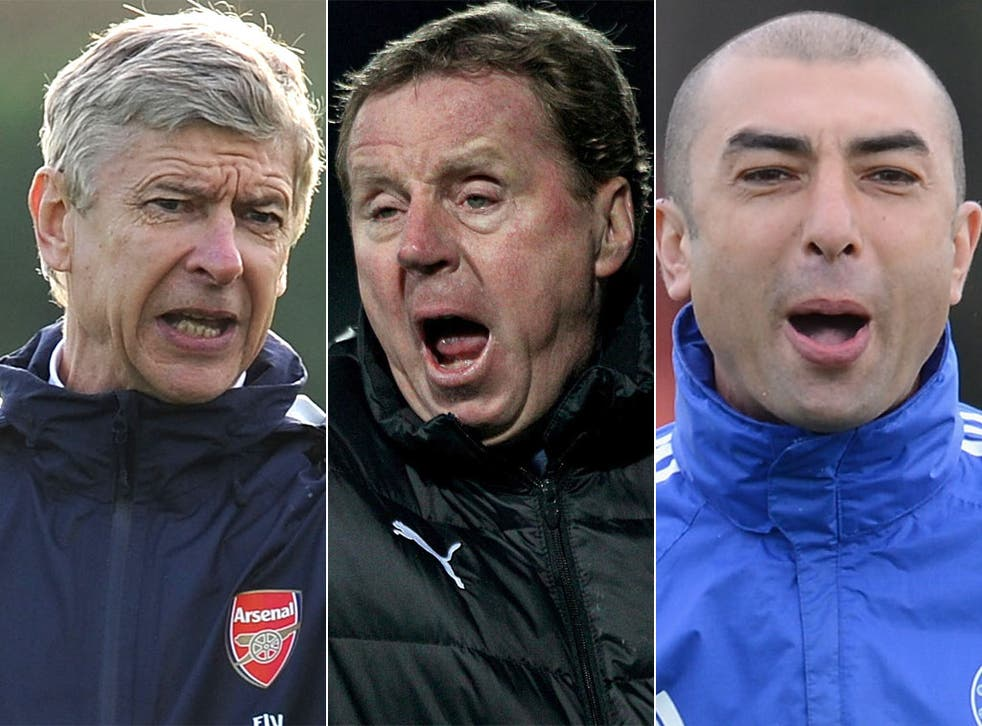 Arsène Wenger, Harry Redknapp and Roberto Di Matteo all know that anything less than fourth place will be regarded a failure by their club's fans