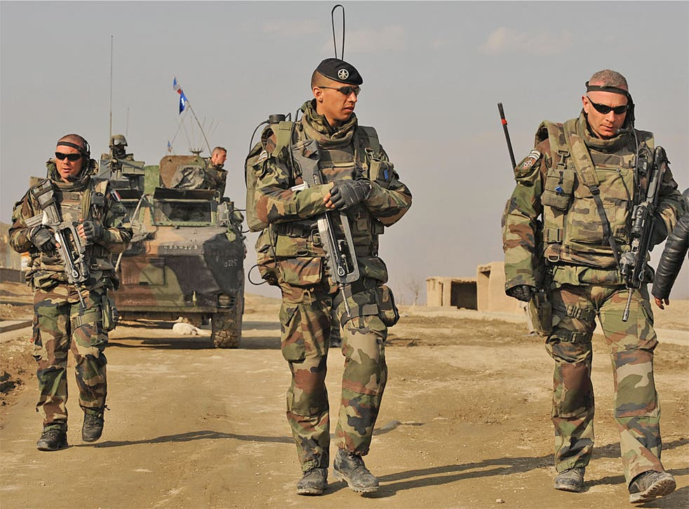 French involvement in Algeria in the 1950s and 1960s and Afghanistan (pictured) since 2001 has fuelled Islamic anger