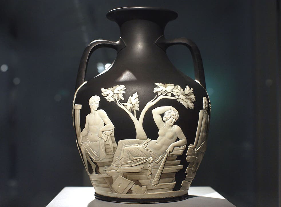At risk: The Portland Vase, which Wedgwood considered his finest work