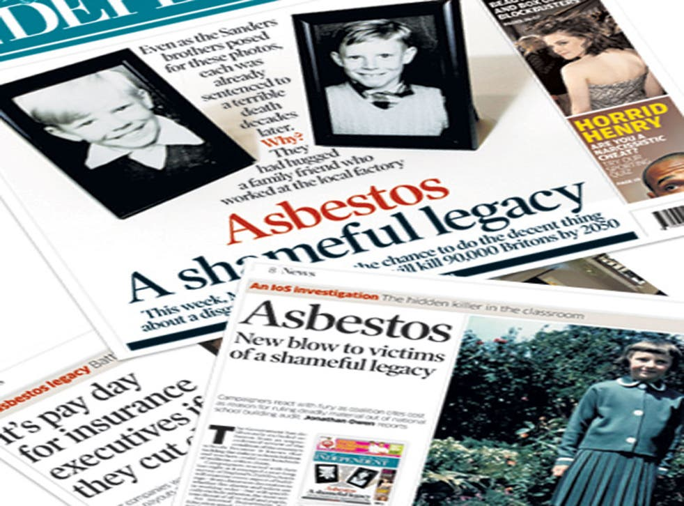 The Independent on Sunday has been reporting on the plight of workers who developed mesothelioma since 2009
