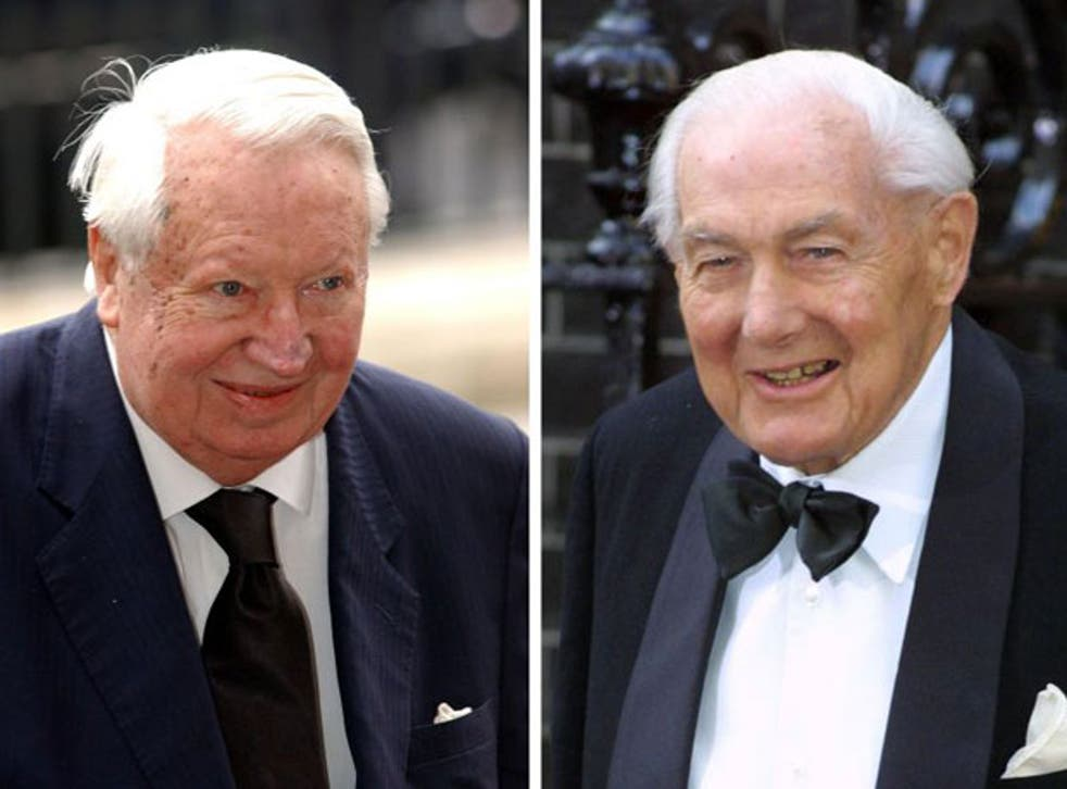 Former prime ministers Sir Edward Heath (left) and Lord James Callaghan are to be honoured by Westminster Abbey with memorial stones