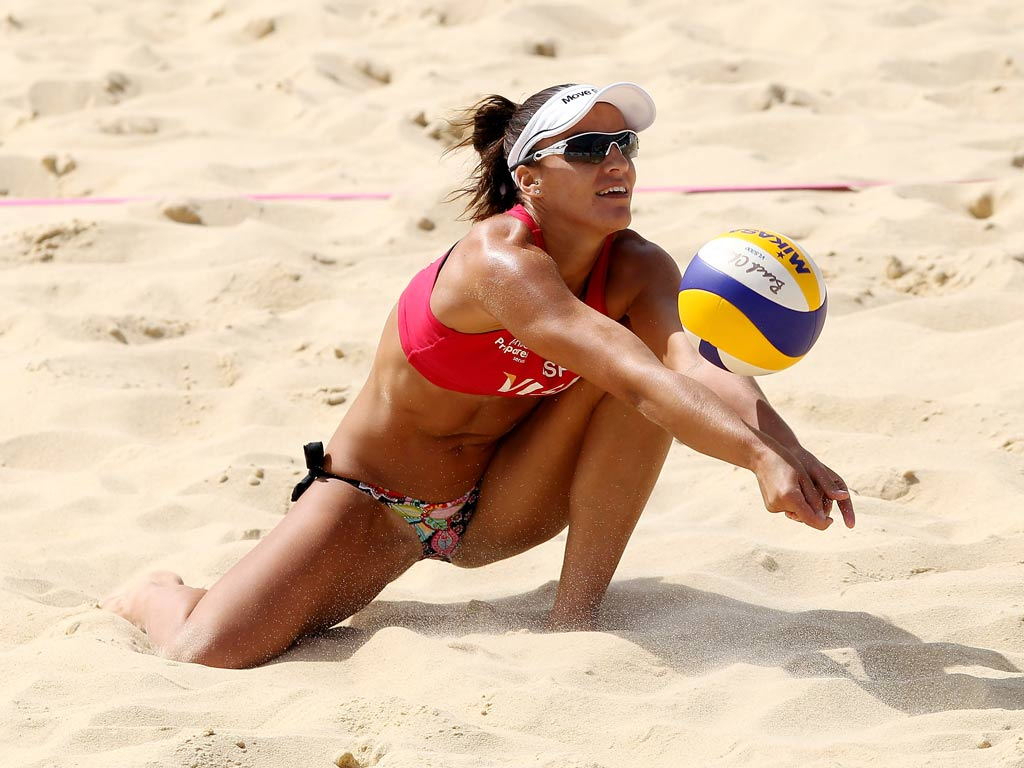 Sand volleyball female players of dating