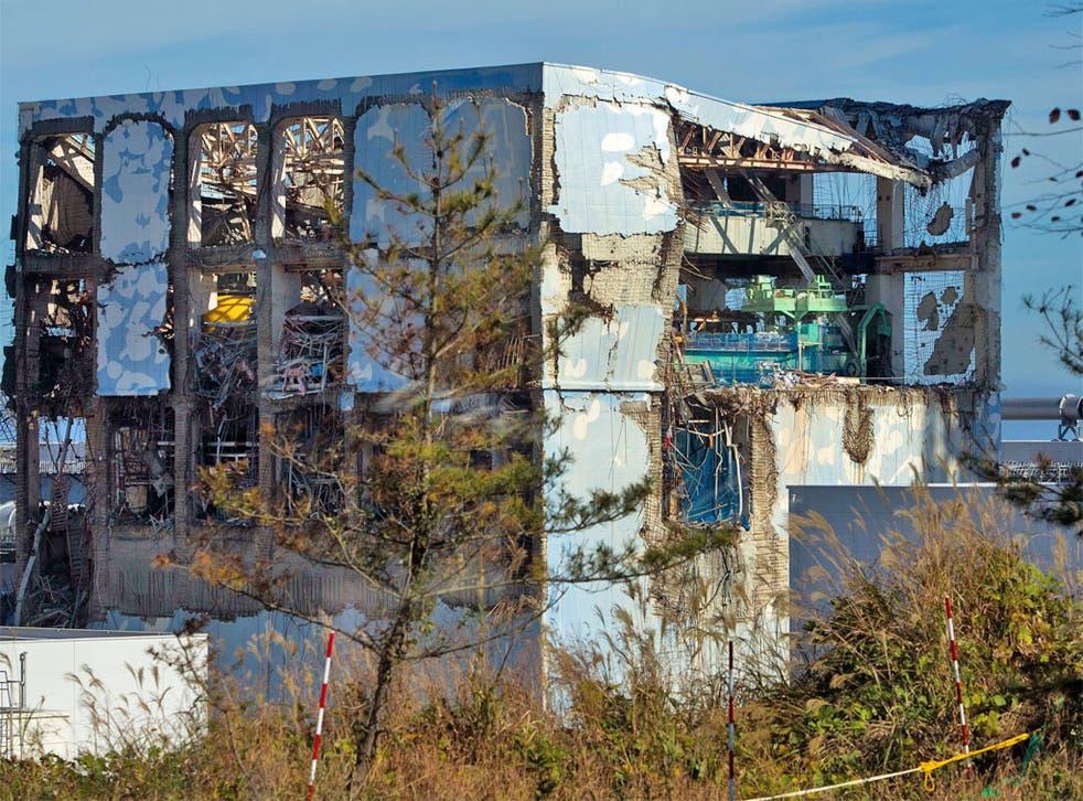 The Unit 4 reactor at the crippled Fukushima plant