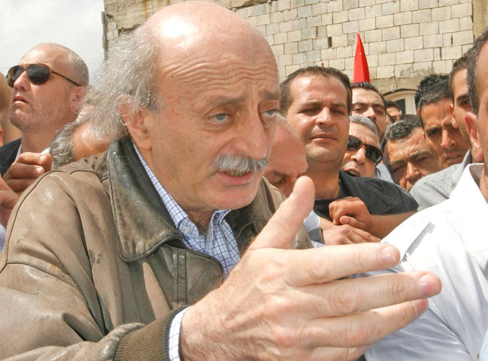 Walid Jumblatt, the leader of Lebanon's Druze community, is commemorating the 40th anniversary of his father's death