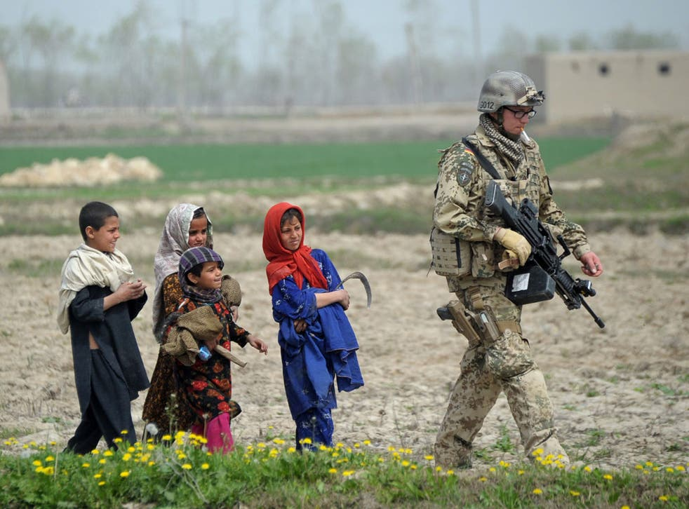 What happens to Afghan women and children when Western troops leave?
