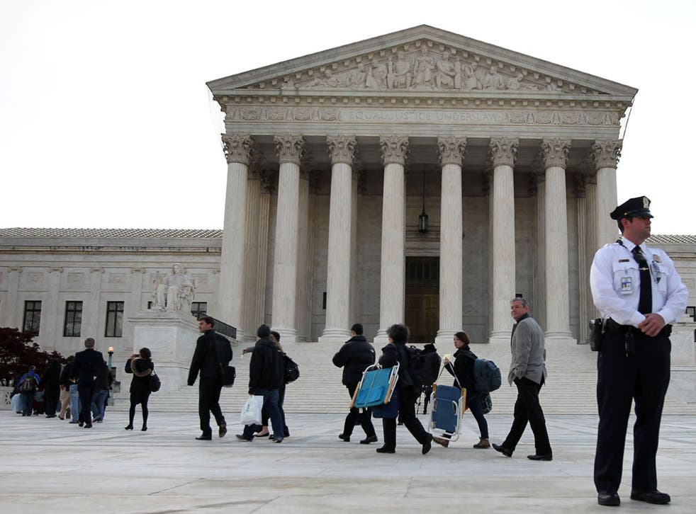 Members of the public attended the oral arguments last week in the Supreme Court where President Obama's healthcare bill was being debated