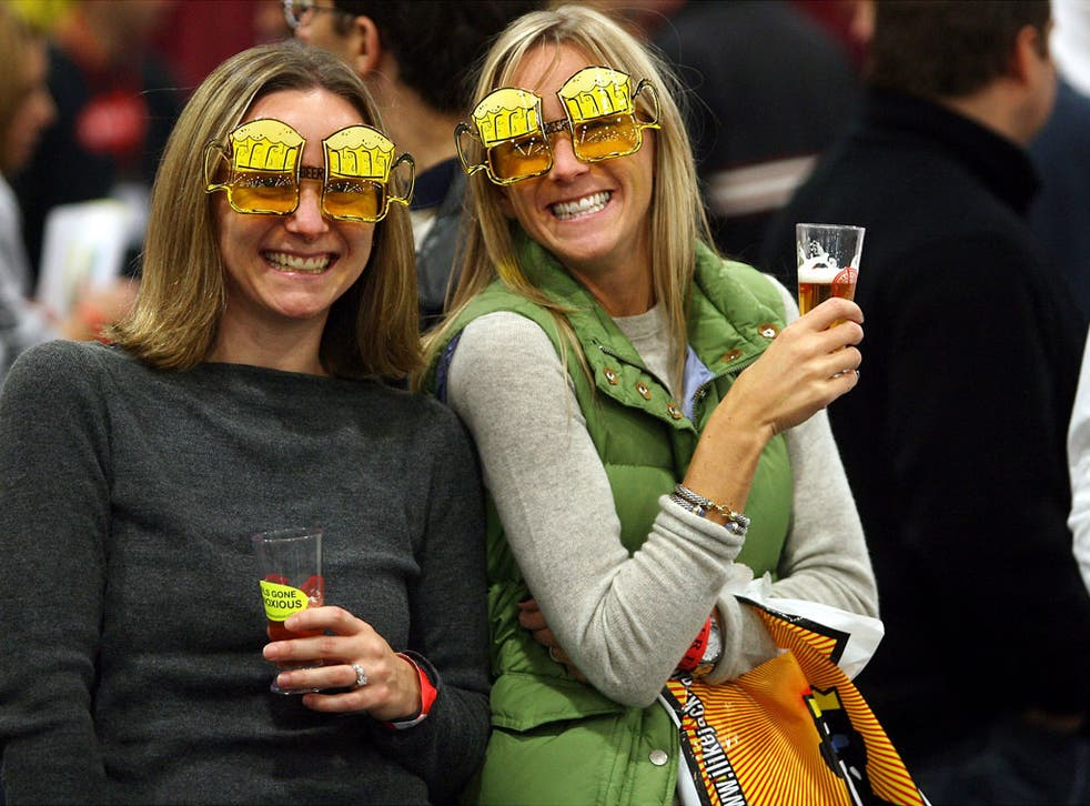 Mine's a double: US beer festival-goers have fun raising their glasses