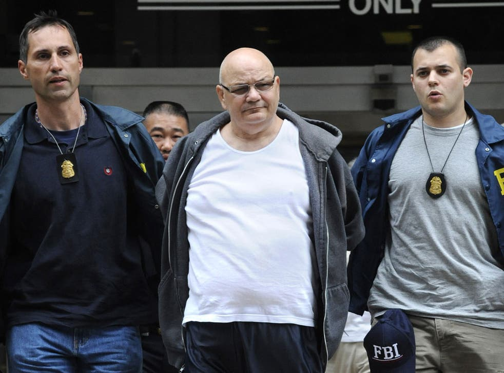 Thomas 'Tommy Shots' Gioeli, an alleged Mafia boss turned blogger, is led to jail in 2008