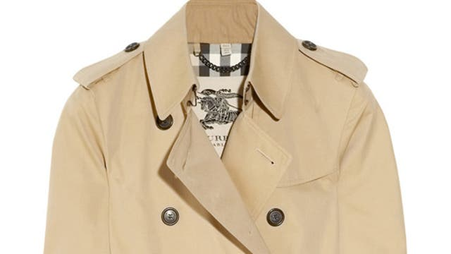 The Trench: A versatile classic for wet weather, warmer winters, cold springs and everything else in between. Burberry's version has become the benchmark, with its 156-year heritage and sturdy gabardine, cut to flatter any shape. £850, Burberry London, burberry.com