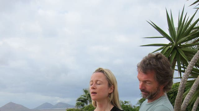 And relax: Rebecca Newman and Alan Dolan at his retreat Nazaret in Lanzarote