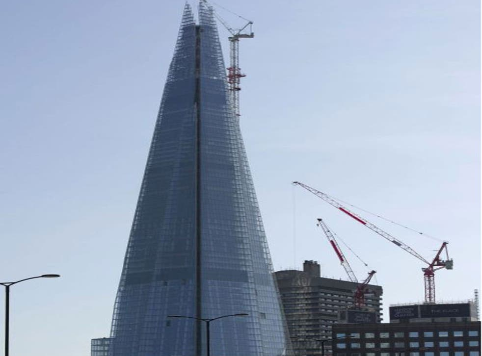 Emergency services were sent to the Shard today