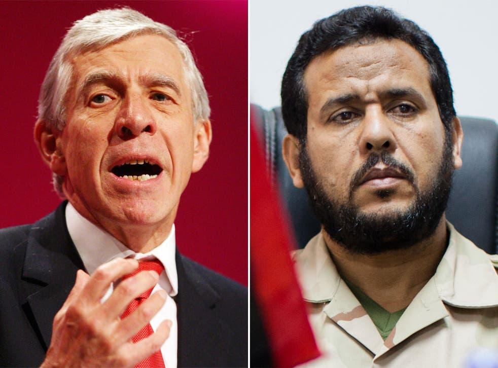 Jack Straw has denied complicity in the rendition of Abdelhakim Belhaj
