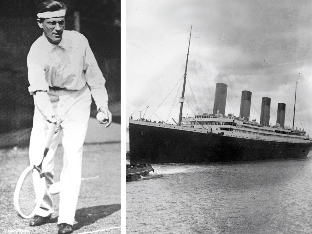 The amazing tale of tennis and the Titanic