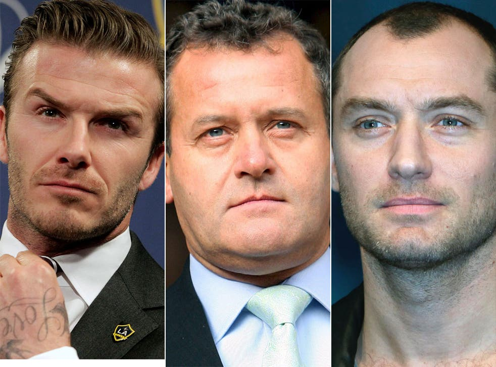 David Beckham, Princess Diana's former butler Paul Burrell and actor Jude Law are rumoured to be targets