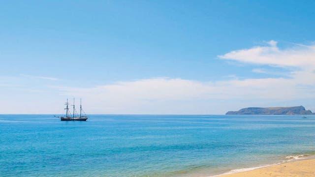 Desert island: The peaceful beach at Porto Santo